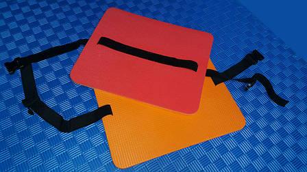 Сидушка туристическая с защелкой 8 мм красно-желтая, фото 2