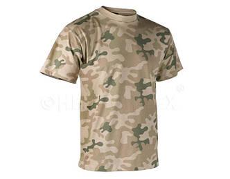 Мужская хлопковая армейская футболка Helikon-Tex - Classic Army T-Shirt - PL Desert (TS-TSH-CO-06)