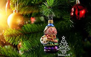 Скляна ялинкова іграшка Художник 0029, фото 2