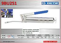 Шприц для консистентных смазок 400см³., 310bar., + шланг,  KING  TONY 9BU251T