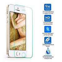 Защитное стекло iPhone 5 5S SE 5C (Прозрачное 2.5 D 9H) (Айфон 5 5С СЕ)