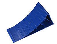 Черевик противідкатний Poputchik пластик синій 220 х 80 х 115  1 шт