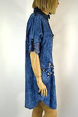Джинсова  туніка плаття великі розміри, фото 2