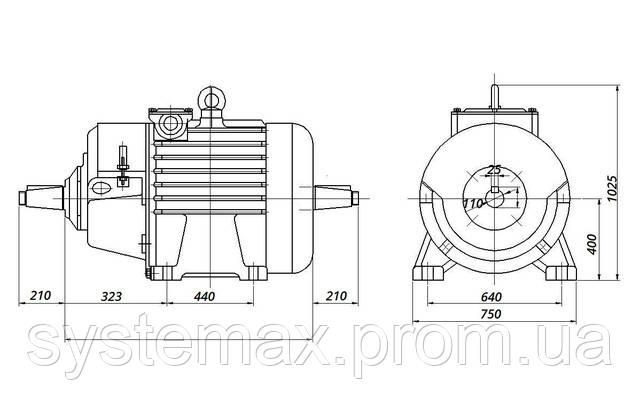 МТН 713-10 - IM1004 комбинированный (габаритные и установочные размеры)