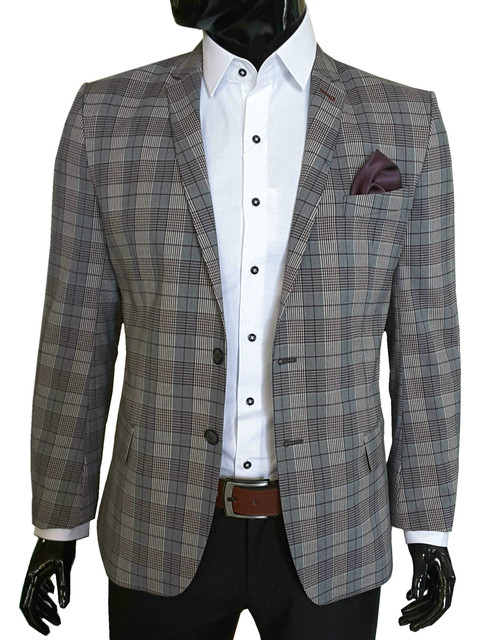 Пиджаки мужские приталенного фасона - Slim Fit