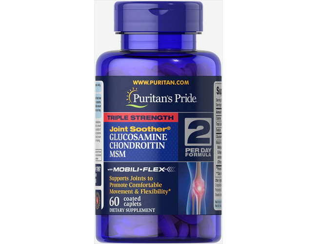Triple Strength Glucosamine Chondroitin with MSM 60 caplets