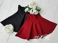 Стильная юбка солнце с завышенной талией 42-44 р