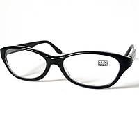 Очки диоптрийные (от +1.0), оправа пластиковая, чёрная, Vizzini