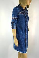 Жіноча джинсова  туніка з вишивкою Neon, фото 3