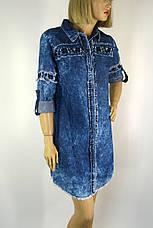 Джинсове плаття туніка з вишивкою Neon, фото 3
