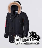 Braggart - Arctic 1673 | Зимняя парка теплая черная