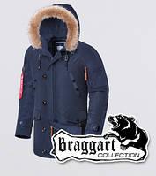 Braggart - Arctic 1673 | Парка зимняя мужская синяя