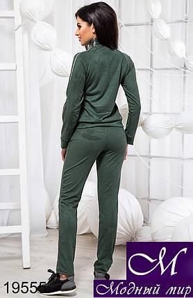 Замшевый зеленый спортивный костюм (р. S, M, L) арт. 19555, фото 2