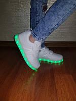 Кроссовки с LED подсветкой детские White 1088