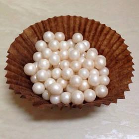Цукрові кульки перлинки Айворі 5 мм, 7 мм, упаковка 1 кг / Сахарные шарики жемчужные Айвори Amarischia