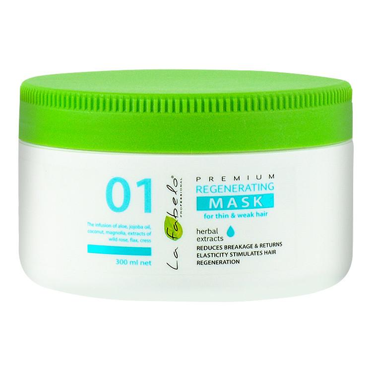 Маска регенерирующая для тонких и слабых волос La Fabelo Premium 01 Regenerating 300 мл (01490100901)