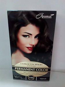 """Гель-фарба для волосся """"Славия"""" тон чорний (код відтінку 100)"""