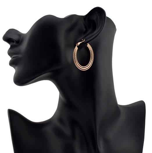 Серьги-кольца 54809 размер 37*2 мм, позолота РО
