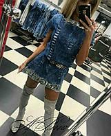 Шикарное джинсовое  платье