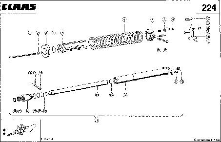ЦИЛИНДР ЖАТКИ - CLAAS COMMANDOR 114 CS
