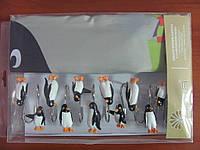 Шторки в ванную комнату 180х180, Arya Big Penguin с пингвинами