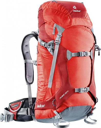 Рюкзак практичный для фрирайда, скитура на 32 л. DEUTER RISE 32+, 33671 5520 красный