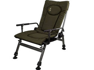 Карповое кресло Elektrostatyk с подлокотниками (нагрузка до 110 кг)(F5R)