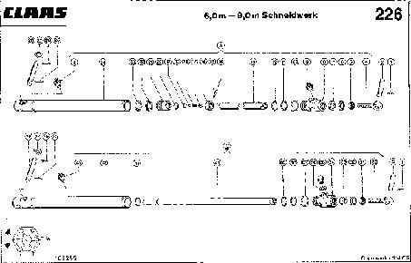 ЦИЛИНДР МОТОВИЛА, 6,0 M - 9,0 M ЖАТКА - CLAAS COMMANDOR 114 CS