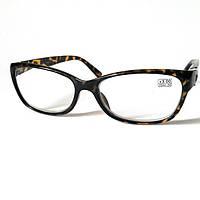 Очки диоптрийные +3.0 Vista, в пластиковой тигровой оправе , женские