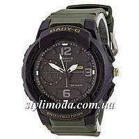 Часы наручные Casio Baby G BGA-230 G Black-Militari Wristband