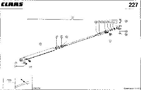 ЦИЛИНДР ВЫГРУЗНОГО ШНЕКА - CLAAS COMMANDOR 114 CS