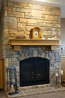 Облицовка камнем и плиткой кухни и камина, фото 1