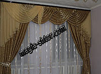 Ламбрекен со шторами для зала, спальни, фото 1