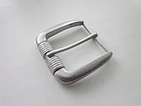Пряжка для ремня 40 мм серебро, фото 1