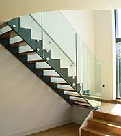 Стеклянные перила и ограждения для лестниц, балконов, террас