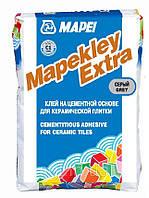 Цементный клей для керамической плитки Mapeklej Extra .Цвет серый.25 кг.Mapei.