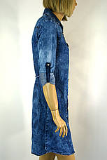 Жіноча джинсова сорочка туніка з стразами Riva, фото 2