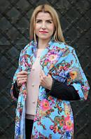 Стильный лёгкий шарф Цветочная магия
