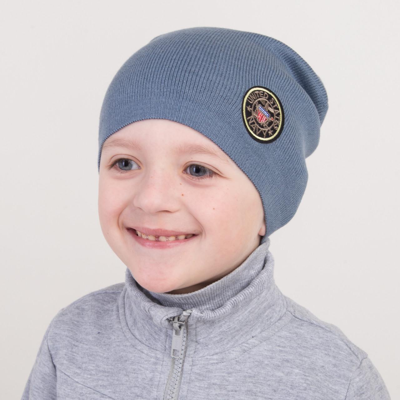 Брендовая весенняя шапка для мальчика оптом - Артикул 2272