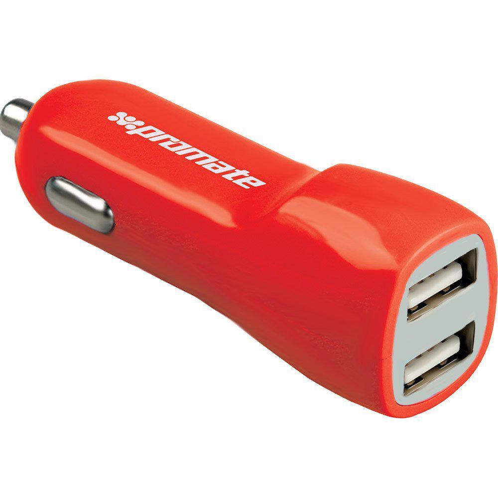 Автомобильное зарядное устройство Promate Vivid Red