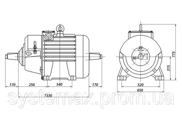 МТН 611-10 - IM1004 комбинированный (габаритные и установочные размеры)