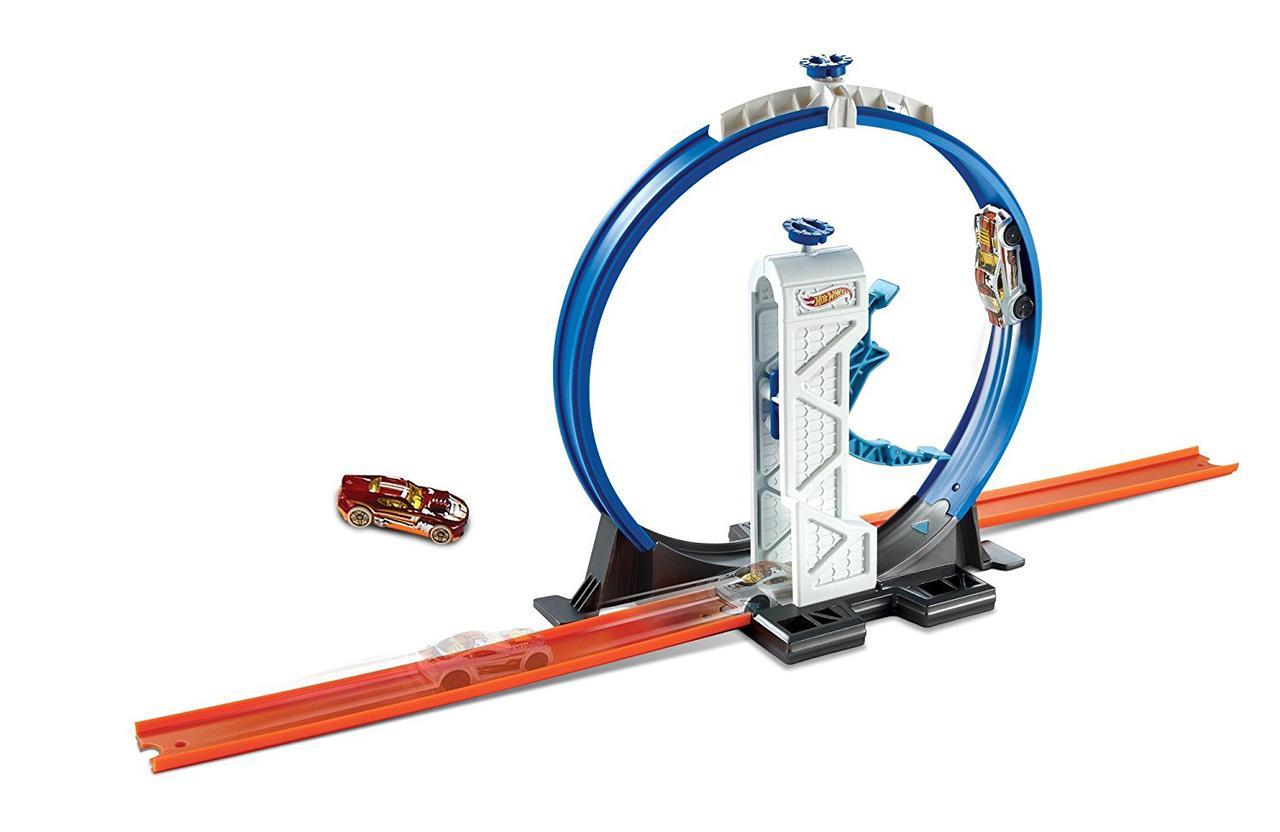 Трек Хот Вилс Петля для строительство супер трека Hot Wheels Track Builder Loop Launcher