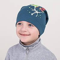 Модная хлопковая шапка на весну для мальчика - Арт 2262