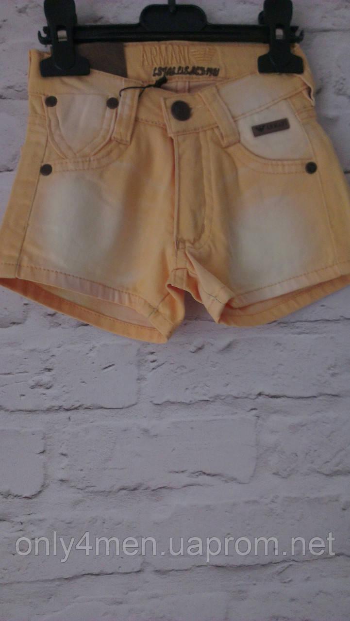 Джинсовые шорты для девочек  98-140