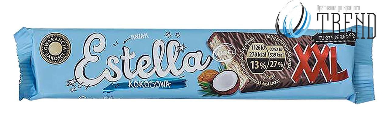 Estella вафлі в шоколаді XXL (Кокос)  50 гр.