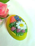 """Глицериновое натуральное мыло ручной работы """"Луговые цветы""""."""