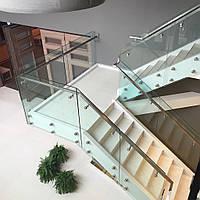 Стеклянные ограждения лестниц под заказ