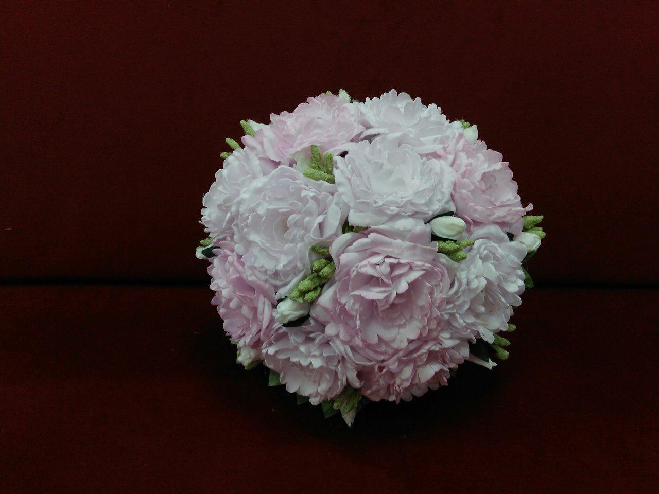 Свадебный букет-дублер розовый из пион