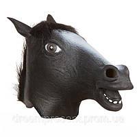 Маска латексная Лошадь (черная)