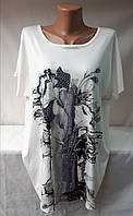 Женская футболка лето батал 1268 оптом